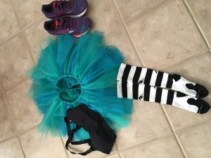 My costume for Disney! Ariel tutu, Eric themed socks and the shirt I'll pick up at the expo!