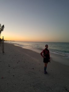 A little beach access from our Sunday morning run