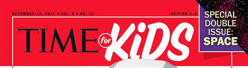 Het logo van Time for Kids.