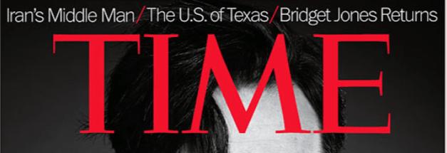Het logo van Time Magazine.