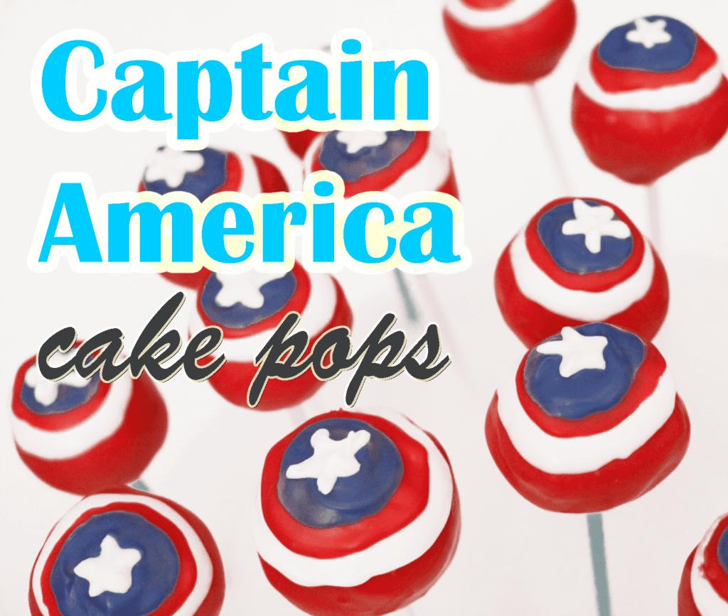 Captain America Cake Pops