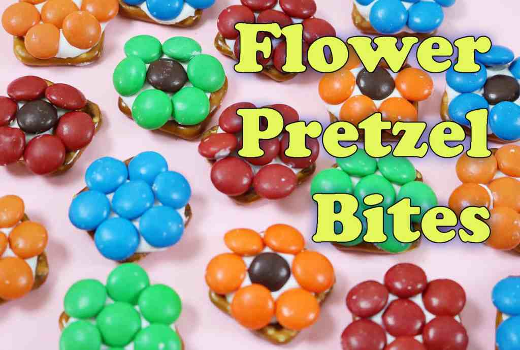 Flower Pretzel Bites – Mother's Day Edition