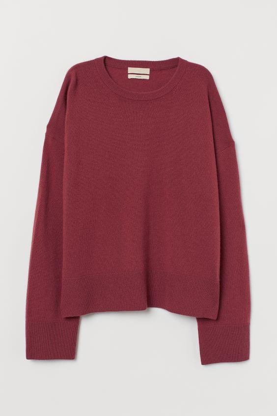 HM_ kašmírový pulover