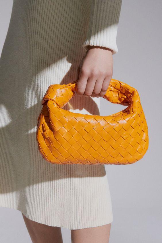 oranžová kabelka Jodie Bottega Venetta
