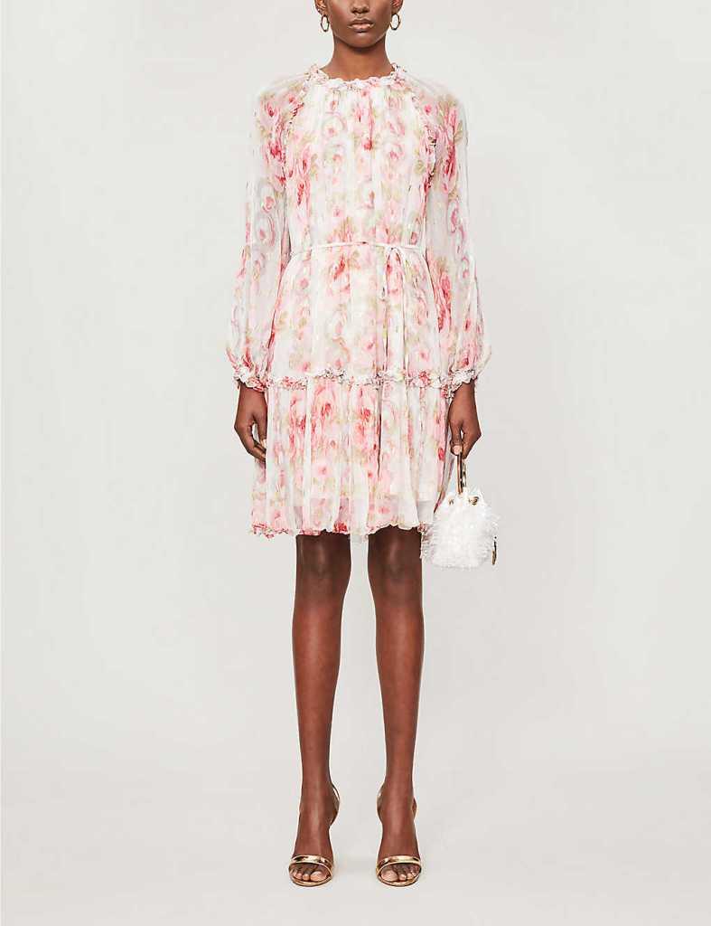 letné kvetinové šaty po kolená od Needle and Thread