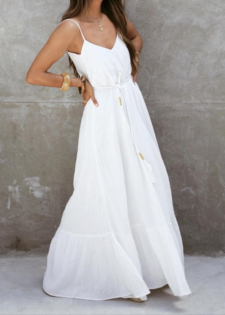 biele bavlnene šaty značky Sezane