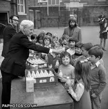 Mini milk bottles nostalgia