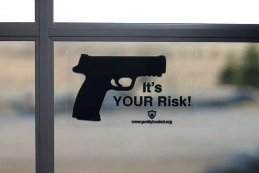 It's Your Risk Vinyl Sticker