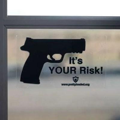 It's Your Risk Vinyl Sticker