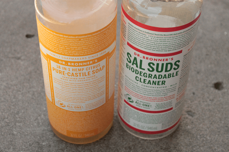 Dr. Bronner's Sal Suds Biodegradable Cleaner and 18-in-1 Hemp Citrus Pure-Castile Soap