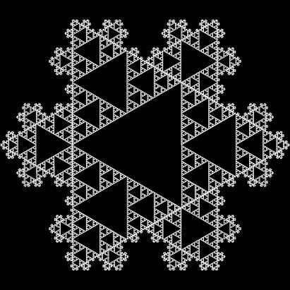 Sierpinski Koch Snowflake via ActiveState.com