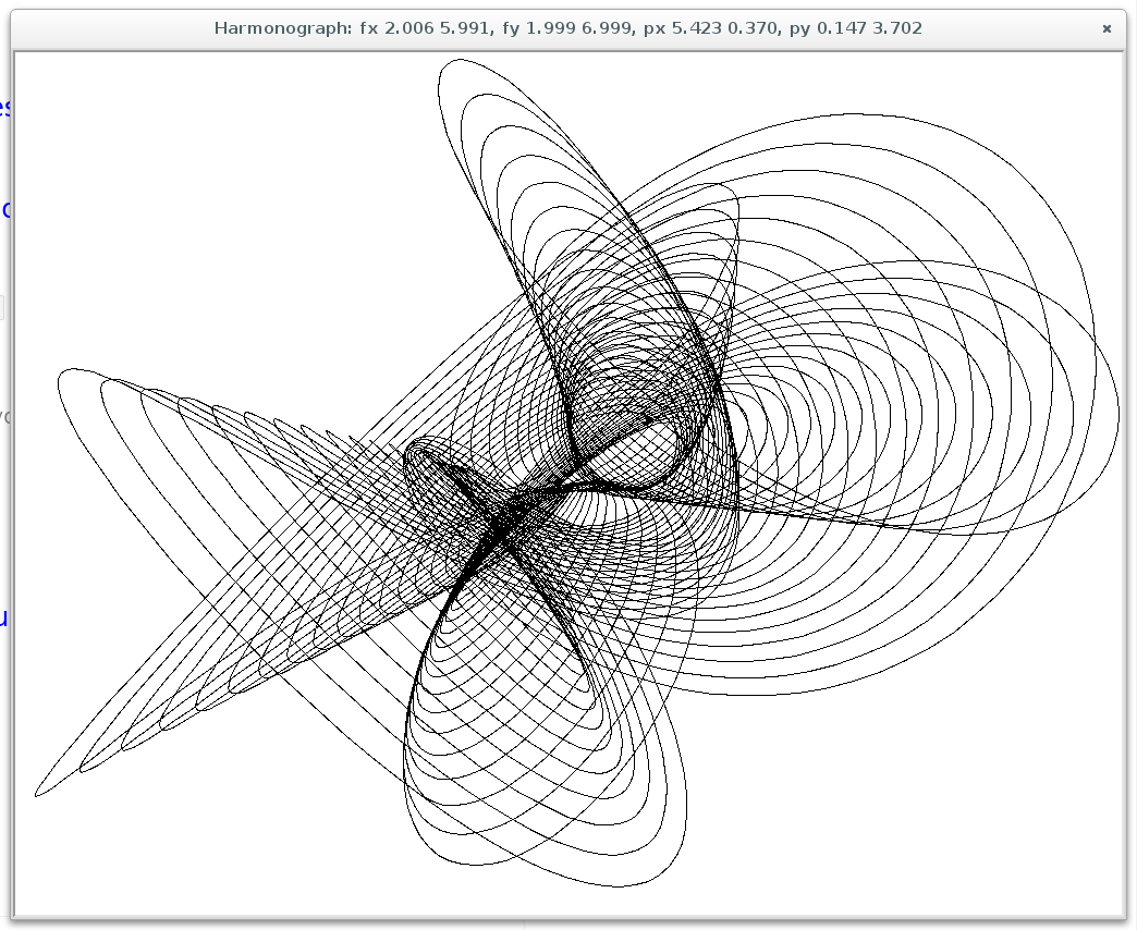Harmonograph in Pygame