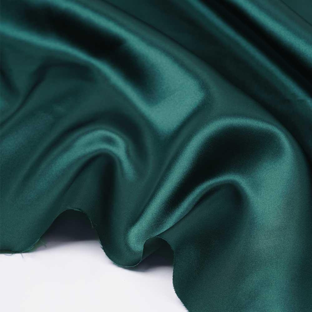 tissu doublure satin polyester vert canard