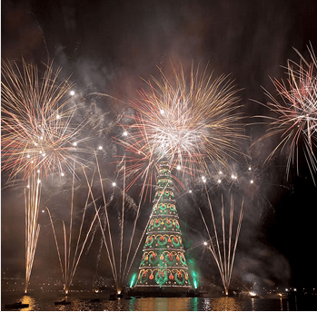 The floating Christmas tree in Rio de Janeiro