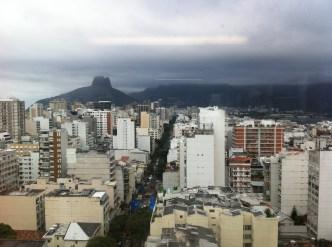 cloudy view of Rio de Janeiro