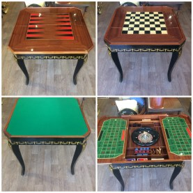 Interior of gaming table