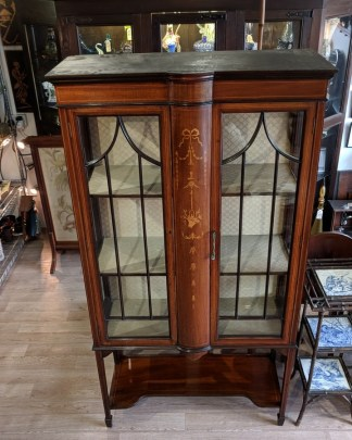 Edwardian mahogany glazed display cabinet
