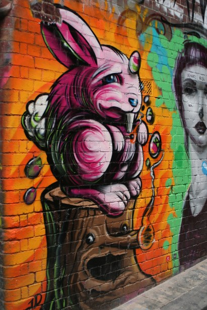 Rabbit on the wall, Melbourne, Australia