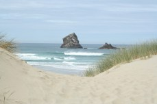 Walking into Sandfly Bay