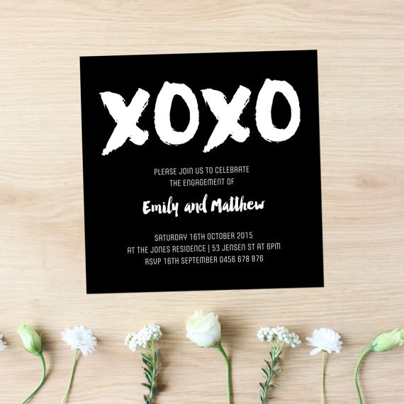 Beautiful black wedding stationery