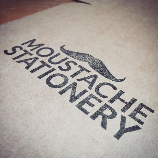 Moustache Stationery