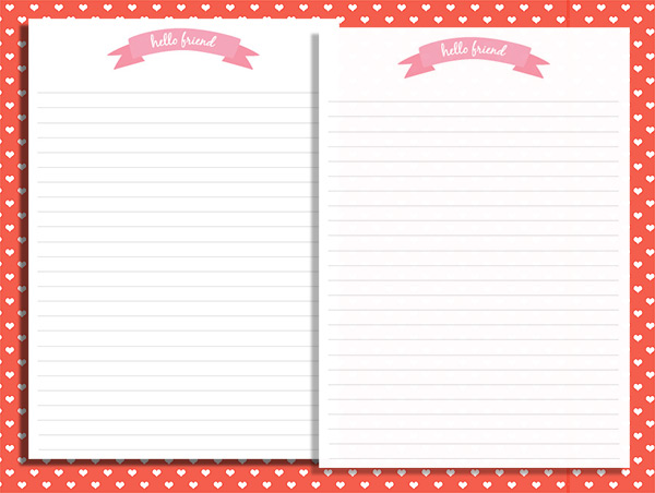 photograph about Printable Sationary titled Hi buddy! Printable stationery - Wonderful Paper Variables