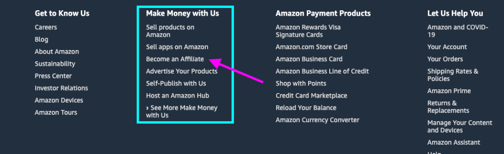 make money blogging with affiliate marketing - join amazon's affiliate program