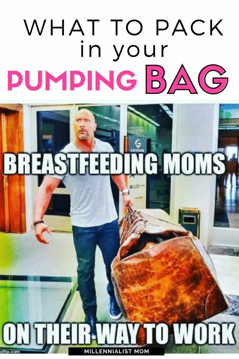 working mom's pumping bag supply checklist