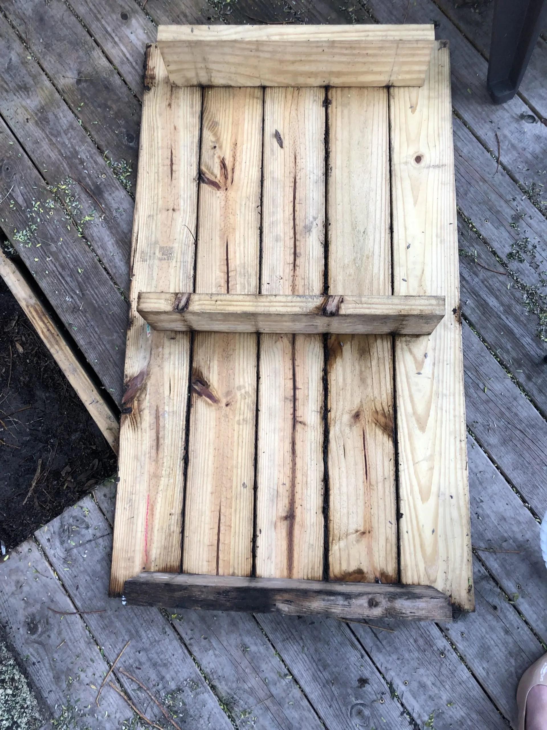 bottom side of my deck's trap door
