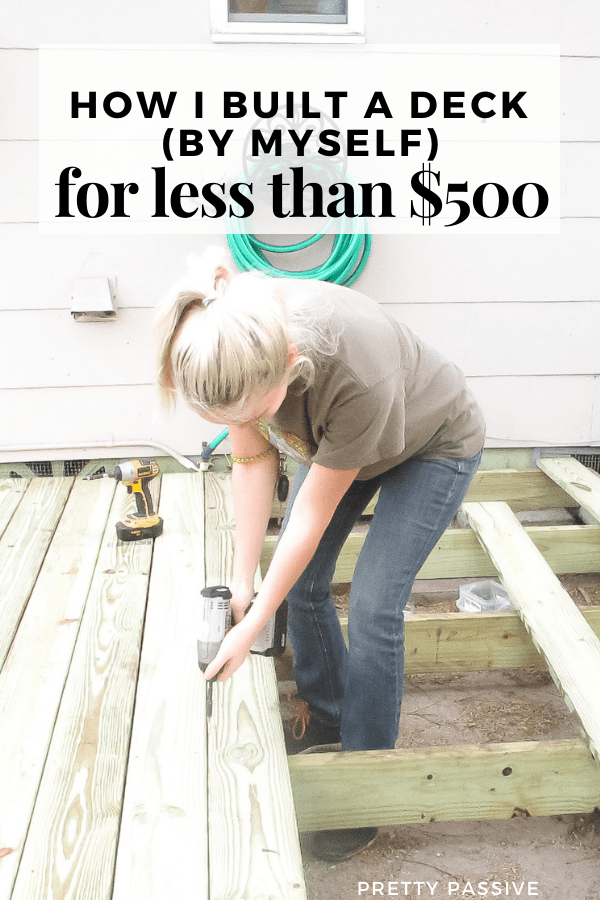how to build a floating deck for CHEAP with no time to waste. I DIY'd a deck for less than $500 in no more than 48 hours total.