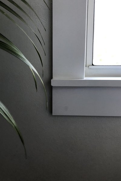 easy DIY modern window sill replacement and trim casing- trim detail