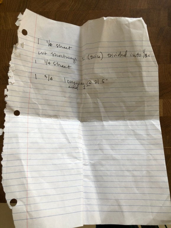 my home depot shopping list for built-in bench plans