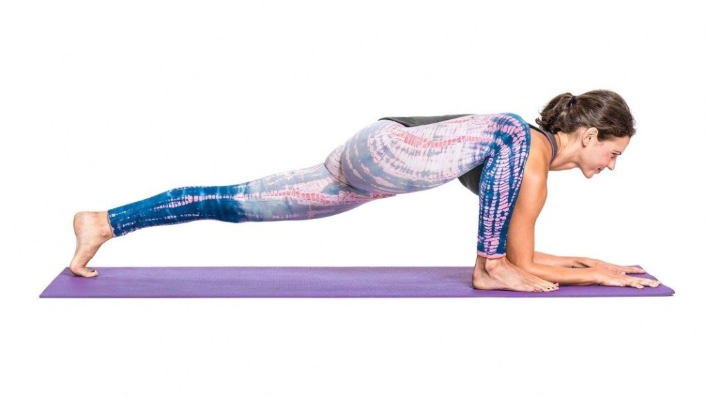 yoga poses for aspirational VBAC - lizard pose