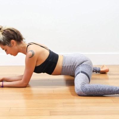 frog pose hip and pelvis stretch for VBAC
