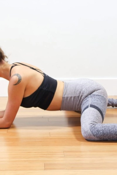frog pose hip and pelvis stretch for VBAC