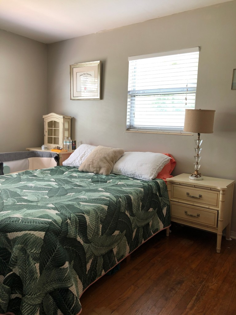 beige bedroom makeover - before - One room challenge 2021 with better homes & gardens