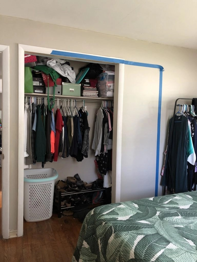 one room challenge beige bedroom makeover and custom DIY closet renovation