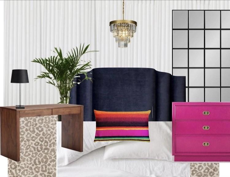 one room challenge beige bedroom makeover mood board!