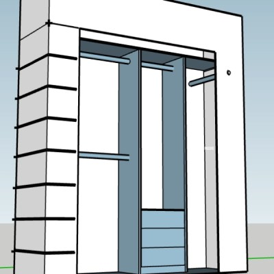 DIY Closet SketchUp Plans – ORC week 3