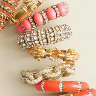 Coral JCrew Bracelets