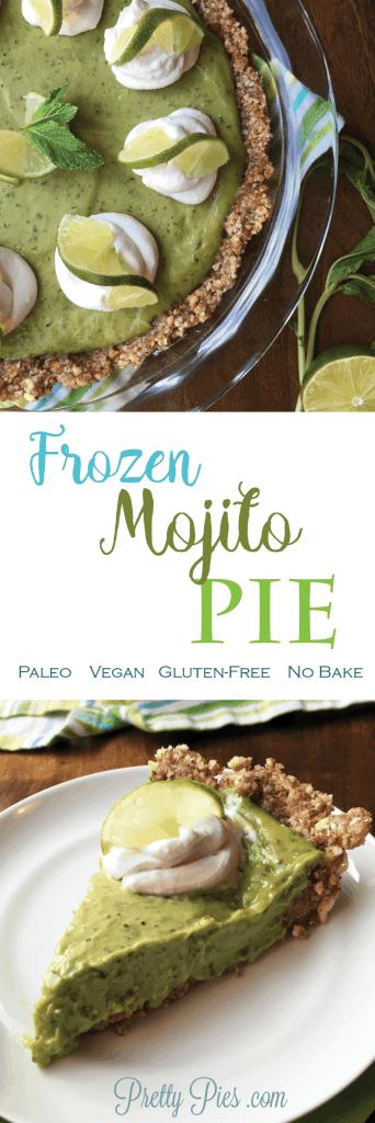 Frozen Mojito Pie made with AVOCADO! | Prettypies.com