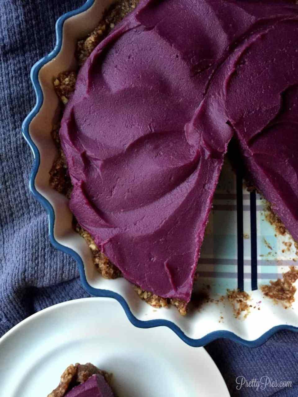 purple sweet potato pie (vegan paleo)