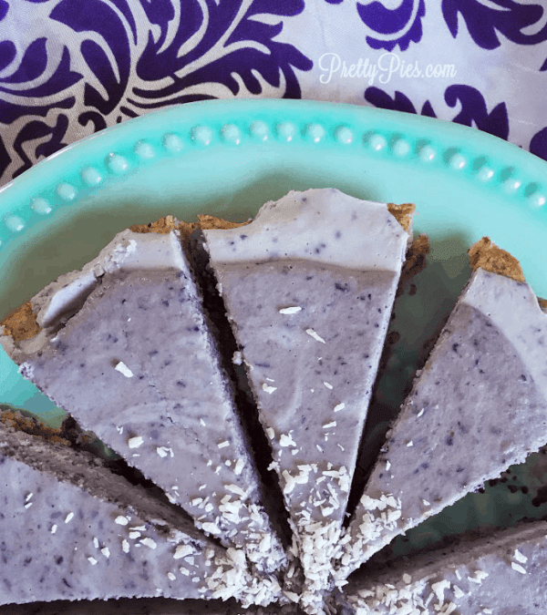 Frosted Blueberry Tart (Low-Carb, Vegan & Paleo)