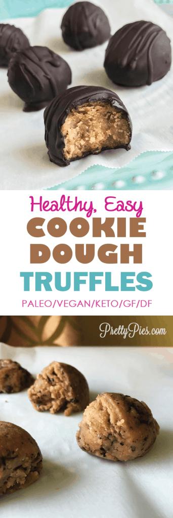 Healthy Cookie Dough! Yes please! #Vegan #Paleo #PrettyPies