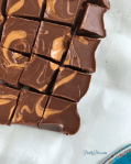 Healthy Reese's Fudge - PrettyPies.com