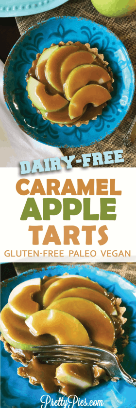 Caramel Apple Tarts (Paleo, Vegan) - PrettyPies.com