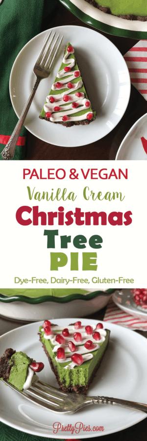 Christmas Tree Pie (Paleo, Vegan, Dye-Free) - PrettyPies.com