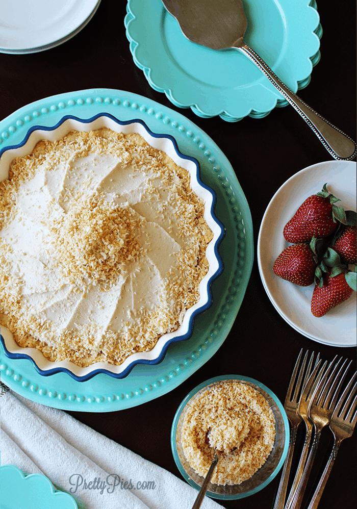 Coconut Cream Pie {Paleo, Vegan} PrettyPies.com