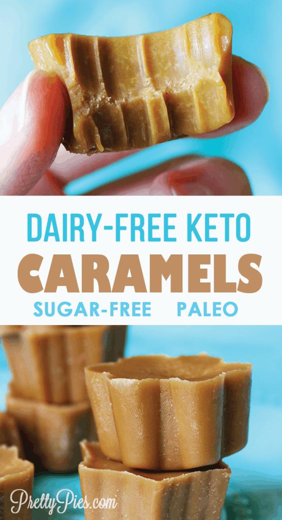 Dairy-Free Keto Caramels - PrettyPies.com