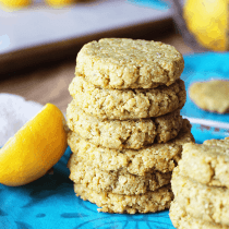 Low-Carb Lemon Cookies (Paleo, Vegan, Keto) PrettyPies.com